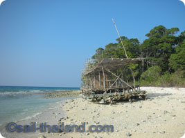 andaman islands on yacht emerald blue
